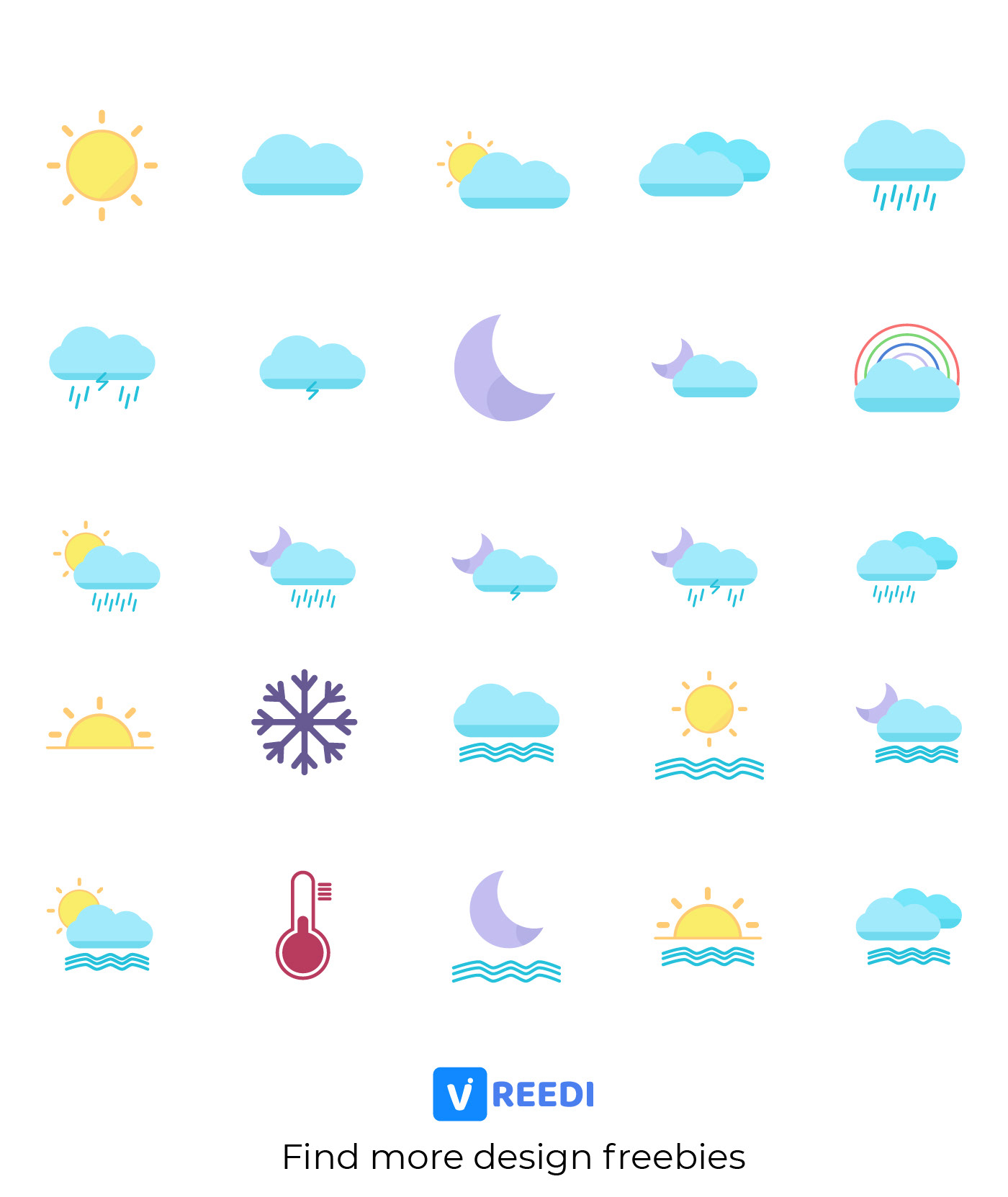 Icon  package weather